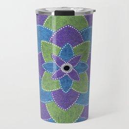 Metallic Petals Travel Mug