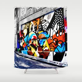 Hosier Lane Abstract Street Art Shower Curtain