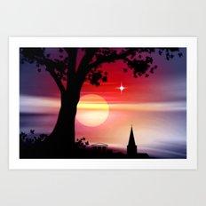 Roter Horizont. Art Print