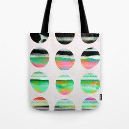 colorful circles pattern design Tote Bag