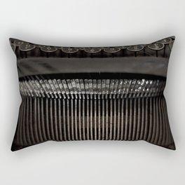 Typewriter Abstract Rectangular Pillow