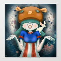 beastie boys Canvas Prints featuring Beastie  by Murka