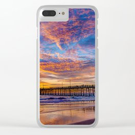 Painted Sky Over Newport Pier Clear iPhone Case