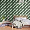 Simply Tropical Palm Leaves in Jungle Green by followmeinstead
