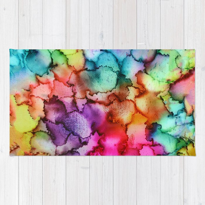 """Abstract """"Floral"""" Rug"""