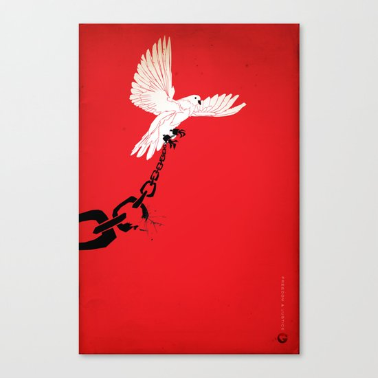 "Glue Network Print Series ""Justice & Freedom"" Canvas Print"