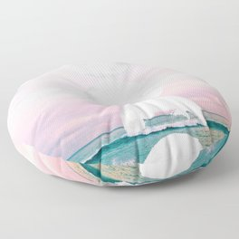 The Moon and the Tides Floor Pillow