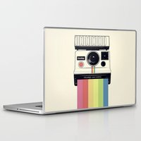 polaroid Laptop & iPad Skins featuring polaroid. by Pink Berry Patterns