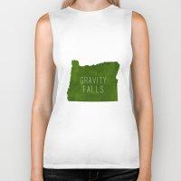 gravity falls Biker Tanks featuring Gravity Falls by pondlifeforme