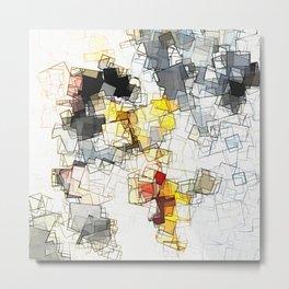 Yellow Geometric Minimalist and Abstract Art Metal Print
