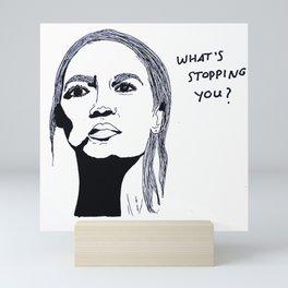 Alexandria Ocasio-Cortez Mini Art Print