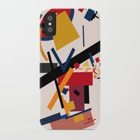 kandinsky iPhone & iPod Cases featuring TOO MANY THOUGHTS by THE USUAL DESIGNERS