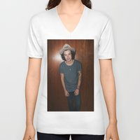 one direction V-neck T-shirts featuring One Direction by behindthenoise