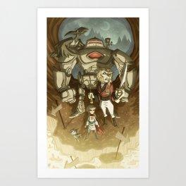 The Horrible Land of AuS Art Print