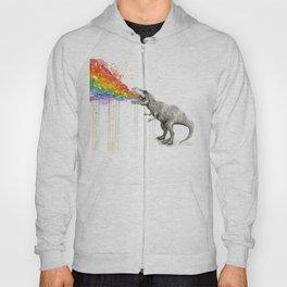 T-Rex Dinosaur Rainbow Puke Taste the Rainbow Watercolor Hoody
