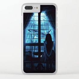 Nightly Visit Clear iPhone Case