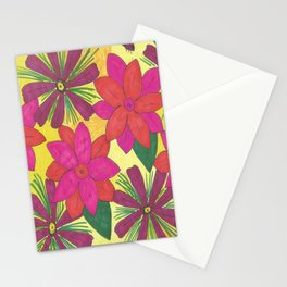 Bohemian Floral Garden Print Stationery Cards