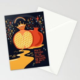 Opet to receiving pleasure Stationery Cards