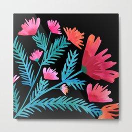 Tropical Spring Wildflowers Metal Print