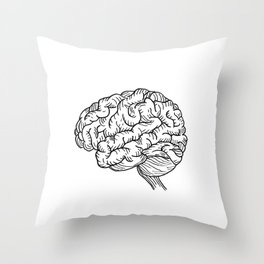 Human Brain Illustration Throw Pillow