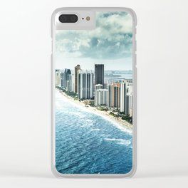 fort lauderdale aerial view Clear iPhone Case