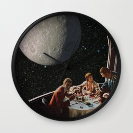 Dine Me To The Moon Wall Clock