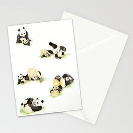 Panda and Cub Stationery Cards