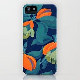 Tropical orange fruit tree iPhone Case