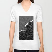 wave V-neck T-shirts featuring Wave by Tim Bywater