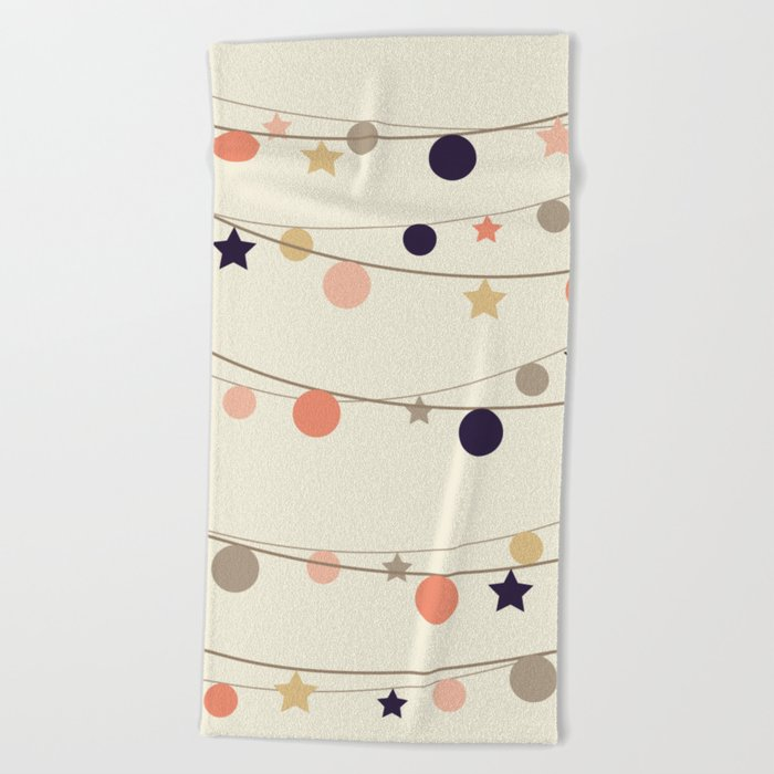 Christmas Garlands Beach Towel