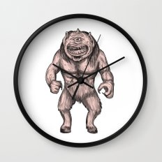Cyclops Standing Tattoo Wall Clock