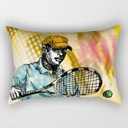 Tennis Backhand Rectangular Pillow