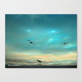 Fractlandia Beach Sunrise Canvas Print