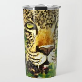 Wildlife Painting Series 3 - Leopard in preying pose Travel Mug