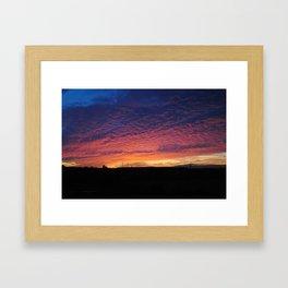 Colourful sunset Framed Art Print