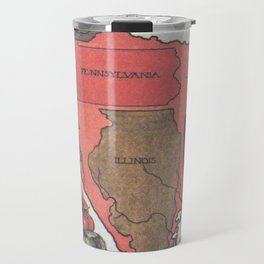 Vintage Texas Agricultural Map (1922) Travel Mug