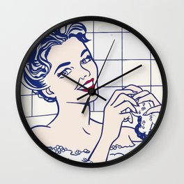 Roy's reworked artwork, for art lovers. Very nice on posters, t-shirts etc. Pop Art. Wall Clock