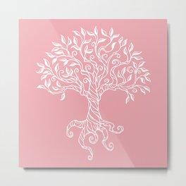 Tree of Life Pink Metal Print