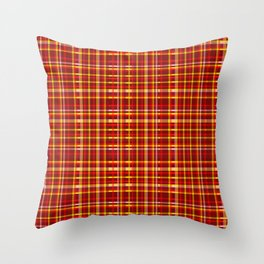 1000 Shades of Red Tartan Throw Pillow