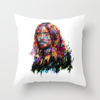 jared leto Throw Pillows featuring Jared Leto by ururuty