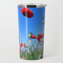 poppy flower no17 Travel Mug