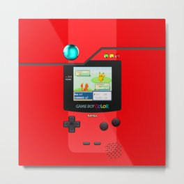Gameboy Color Pokedex Metal Print