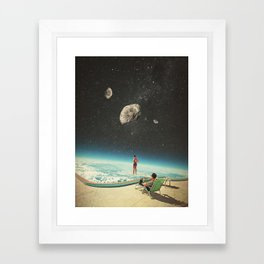 Summer with a Chance of Asteroids Framed Art Print