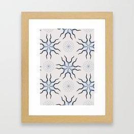 KUDO (Blue) Skull Pattern Series Framed Art Print