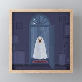 Ghost dog Framed Mini Art Print