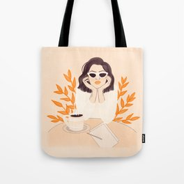Coffee Shop Afternoon Tote Bag
