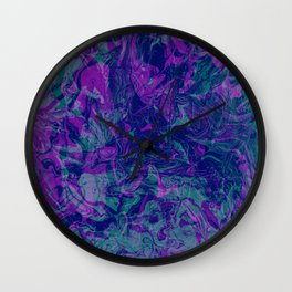 Green Purple Fade Wall Clock