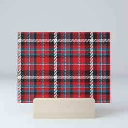 Scottish Red Tartan Plaid Mini Art Print
