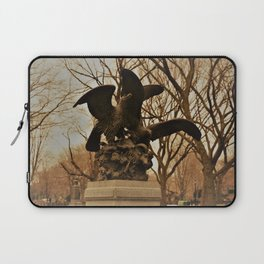 Eagles and Prey Sculpture in NYC Central Park Laptop Sleeve