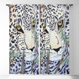 Never Resting - Leopard by Maureen Donovan Blackout Curtain